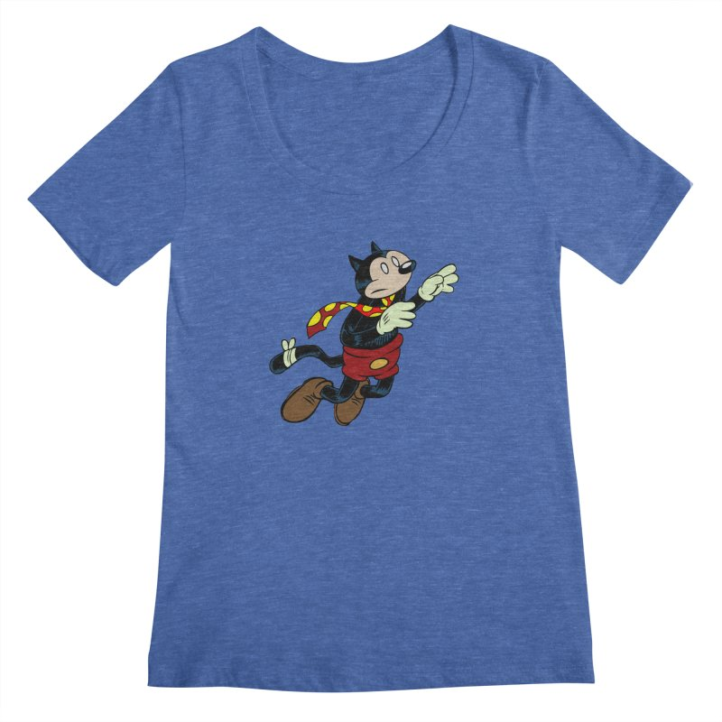 Dingbat the Cat Women's Scoopneck by Magic Inkwell