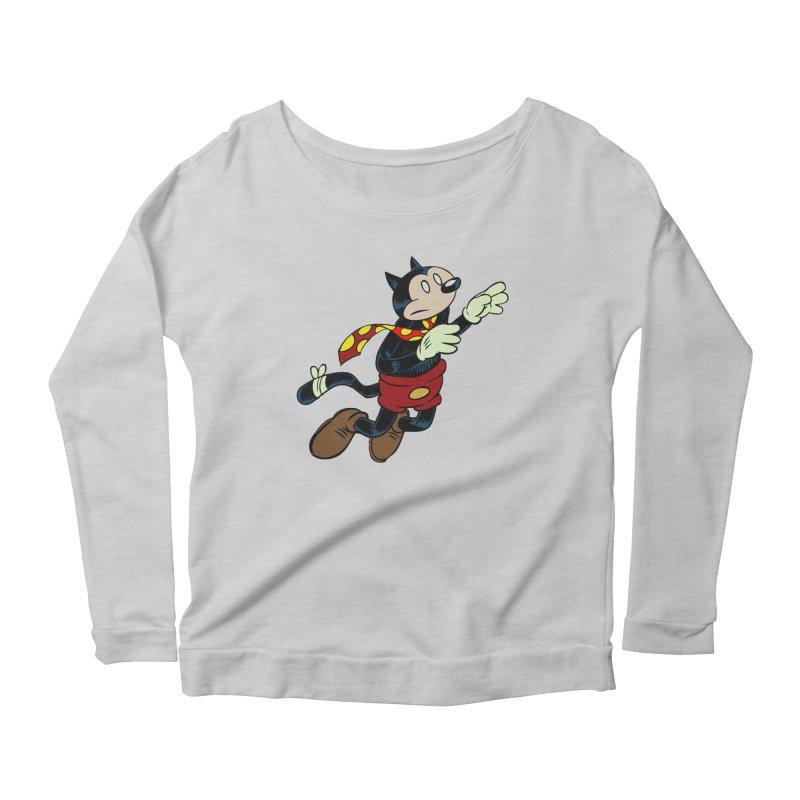 Dingbat the Cat Women's Scoop Neck Longsleeve T-Shirt by Magic Inkwell