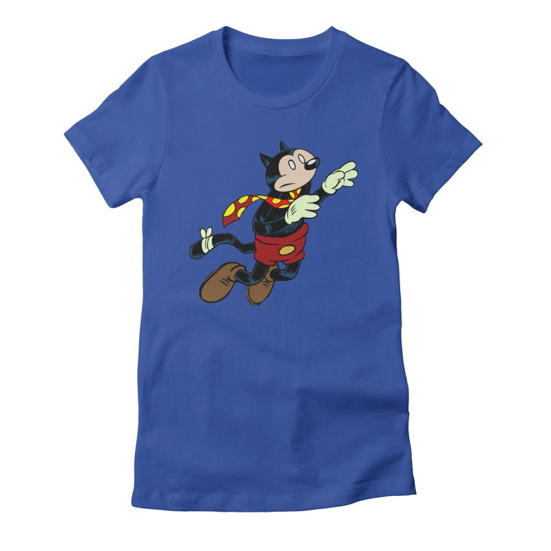 Dingbat the Cat Women's Fitted T-Shirt by Magic Inkwell