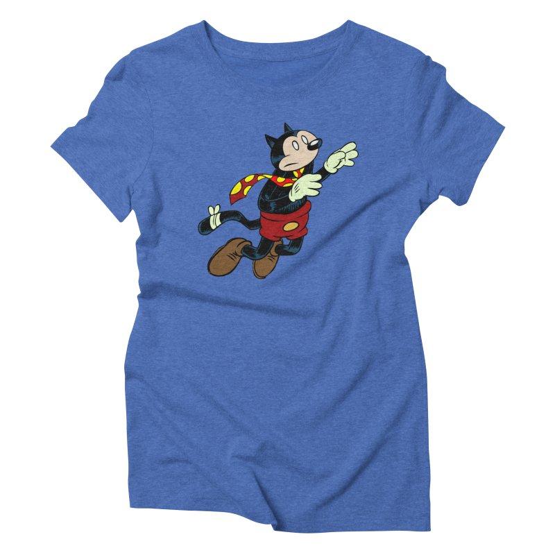 Dingbat the Cat Women's Triblend T-Shirt by Magic Inkwell