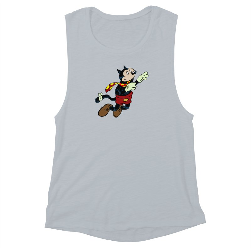 Dingbat the Cat Women's Muscle Tank by Magic Inkwell