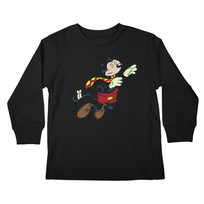 Dingbat the Cat Kids Longsleeve T-Shirt by Magic Inkwell