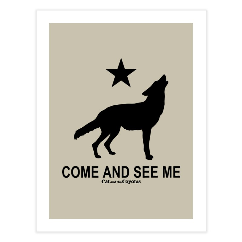 Come and See Me Tee Home Fine Art Print by Magic Inkwell