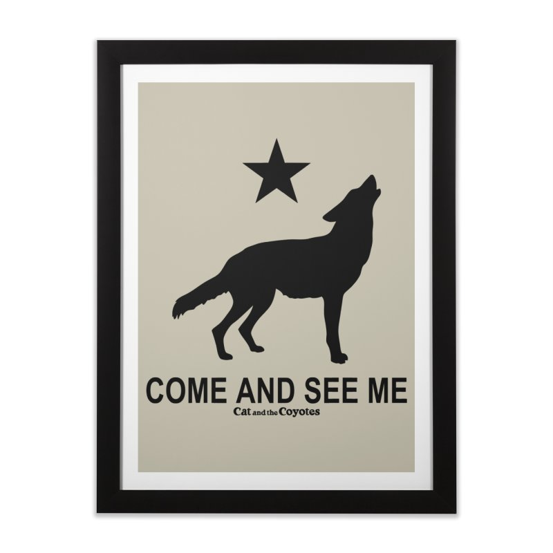 Come and See Me Tee Home Framed Fine Art Print by Magic Inkwell
