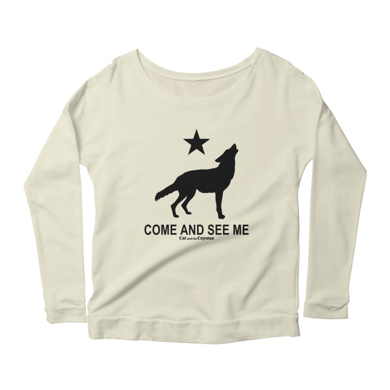 Come and See Me Tee Women's Scoop Neck Longsleeve T-Shirt by Magic Inkwell