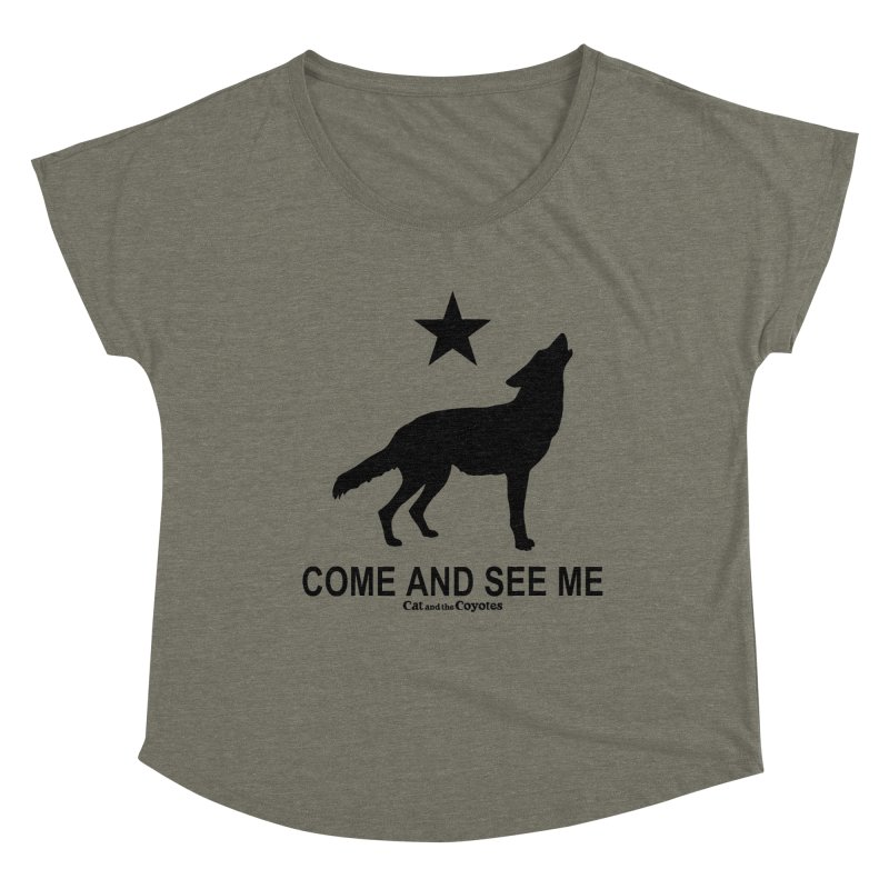 Come and See Me Tee Women's Dolman Scoop Neck by Magic Inkwell
