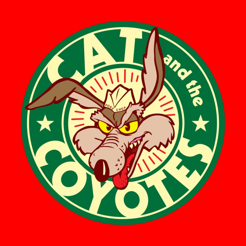 Cat and the Coyotes Poke Chop Tee None  by Magic Inkwell