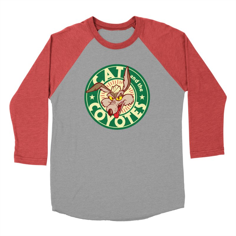 Cat and the Coyotes Poke Chop Tee Women's Baseball Triblend Longsleeve T-Shirt by Magic Inkwell