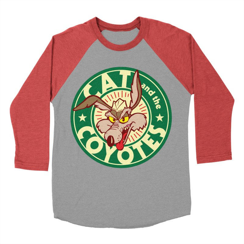 Cat and the Coyotes Poke Chop Tee Men's Baseball Triblend Longsleeve T-Shirt by Magic Inkwell