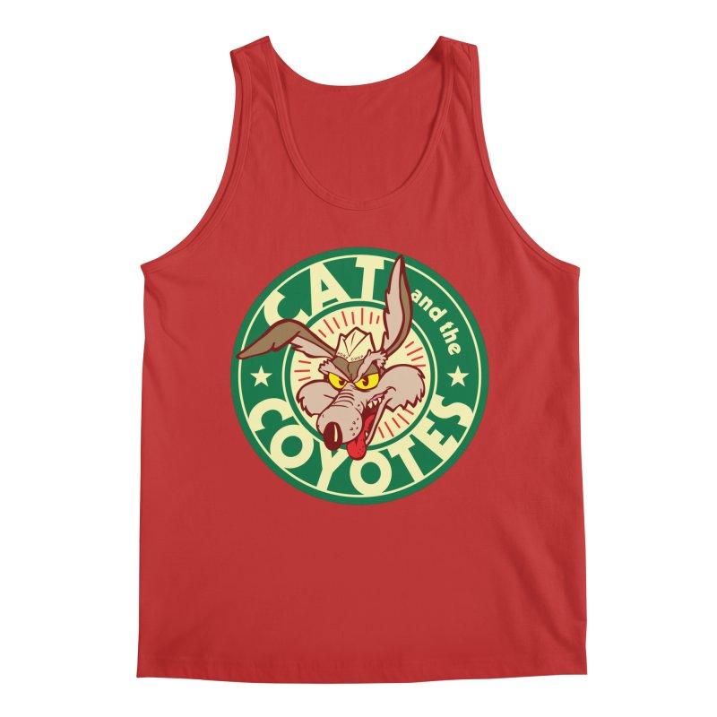 Cat and the Coyotes Poke Chop Tee Men's Regular Tank by Magic Inkwell