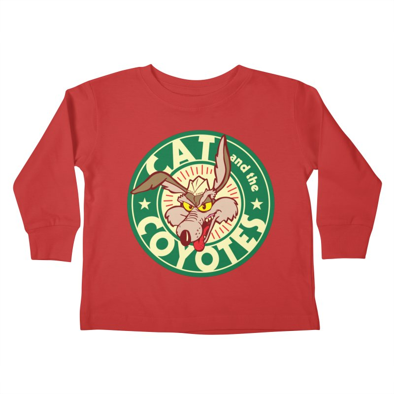 Cat and the Coyotes Poke Chop Tee Kids Toddler Longsleeve T-Shirt by Magic Inkwell