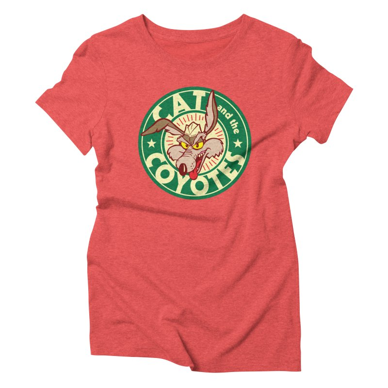 Cat and the Coyotes Poke Chop Tee Women's Triblend T-Shirt by Magic Inkwell