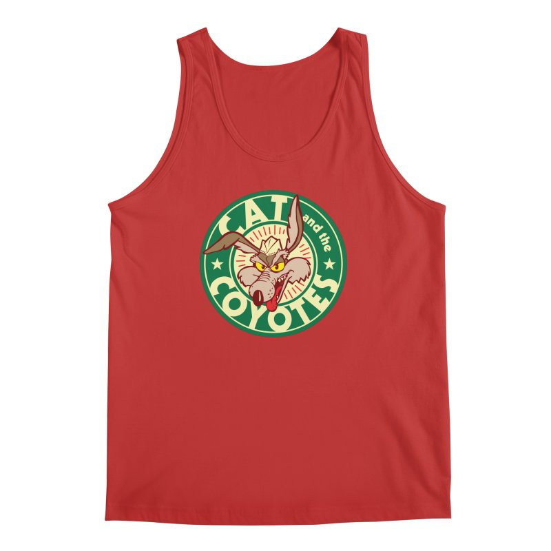 Cat and the Coyotes Poke Chop Tee Men's Tank by Magic Inkwell