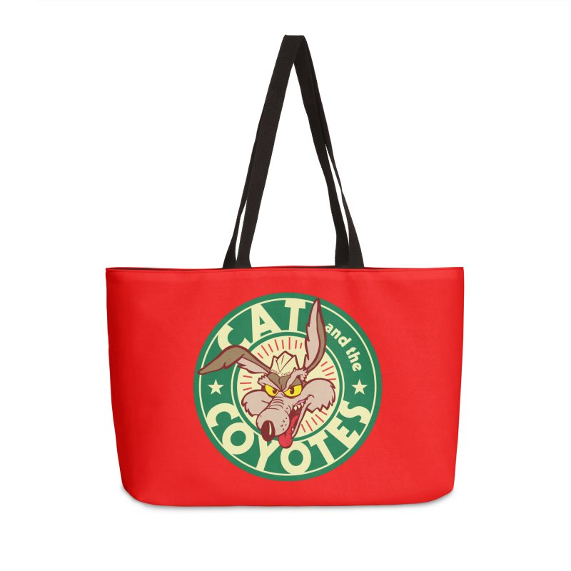Cat and the Coyotes Poke Chop Tee Accessories Weekender Bag Bag by Magic Inkwell