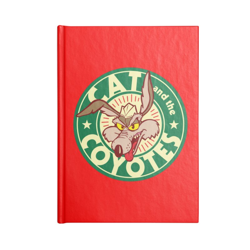 Cat and the Coyotes Poke Chop Tee Accessories Lined Journal Notebook by Magic Inkwell