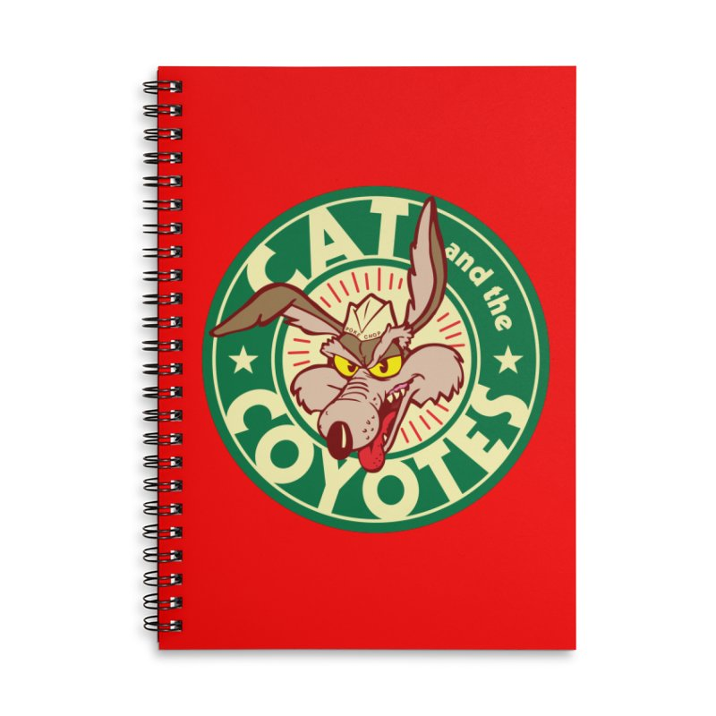 Cat and the Coyotes Poke Chop Tee Accessories Notebook by Magic Inkwell