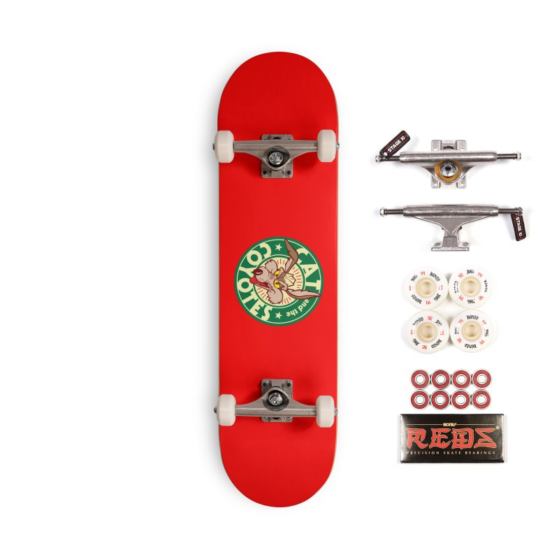 Cat and the Coyotes Poke Chop Tee Accessories Complete - Pro Skateboard by Magic Inkwell