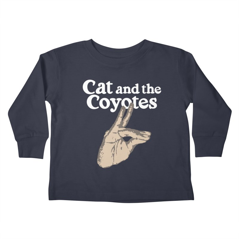 Cat and the Coyotes Coyote Fingers Tee Kids Toddler Longsleeve T-Shirt by Magic Inkwell