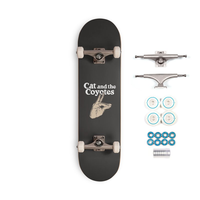 Cat and the Coyotes Coyote Fingers Tee Accessories Complete - Basic Skateboard by Magic Inkwell