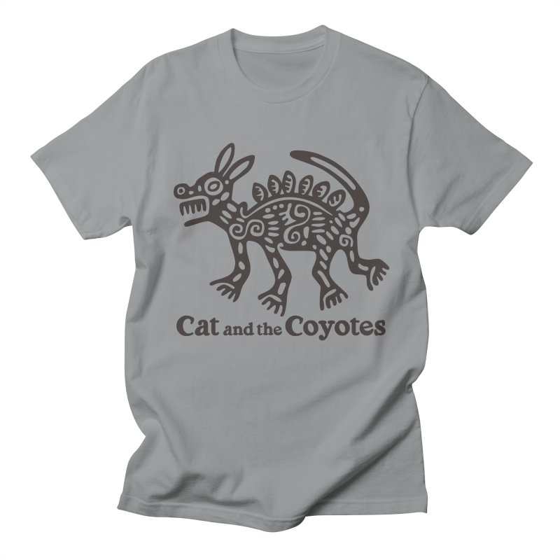 Cat and the Coyotes Coyote Azteca Tee Men's Regular T-Shirt by Magic Inkwell