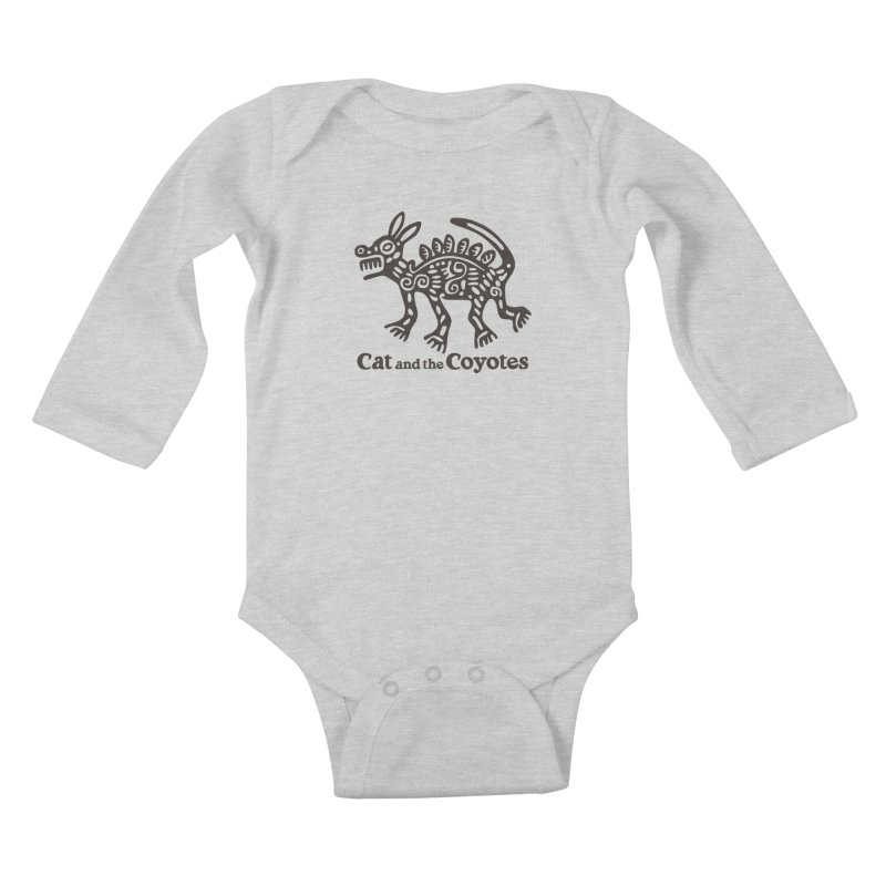 Cat and the Coyotes Coyote Azteca Tee Kids Baby Longsleeve Bodysuit by Magic Inkwell