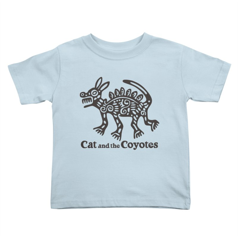 Cat and the Coyotes Coyote Azteca Tee Kids Toddler T-Shirt by Magic Inkwell