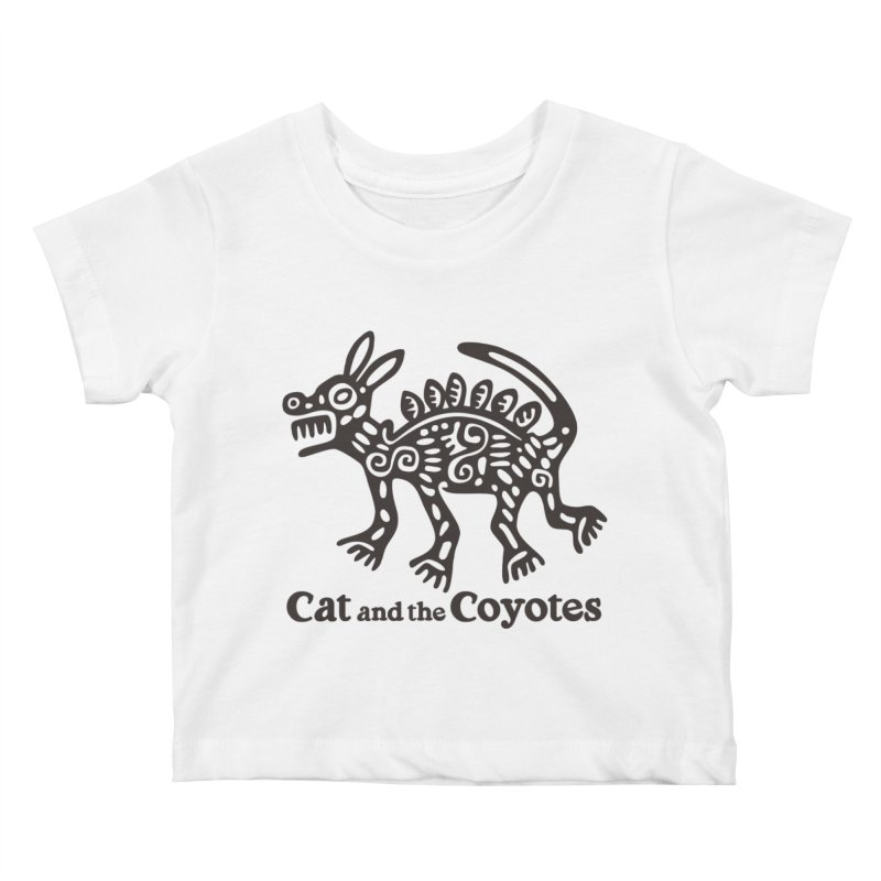 Cat and the Coyotes Coyote Azteca Tee Kids Baby T-Shirt by Magic Inkwell