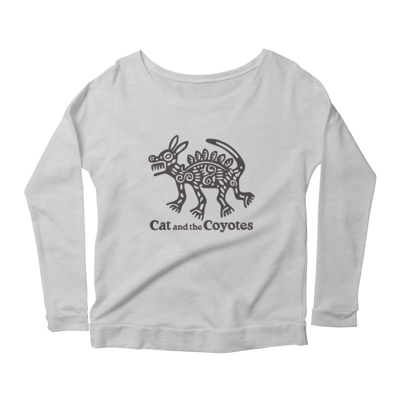 Cat and the Coyotes Coyote Azteca Tee Women's Scoop Neck Longsleeve T-Shirt by Magic Inkwell