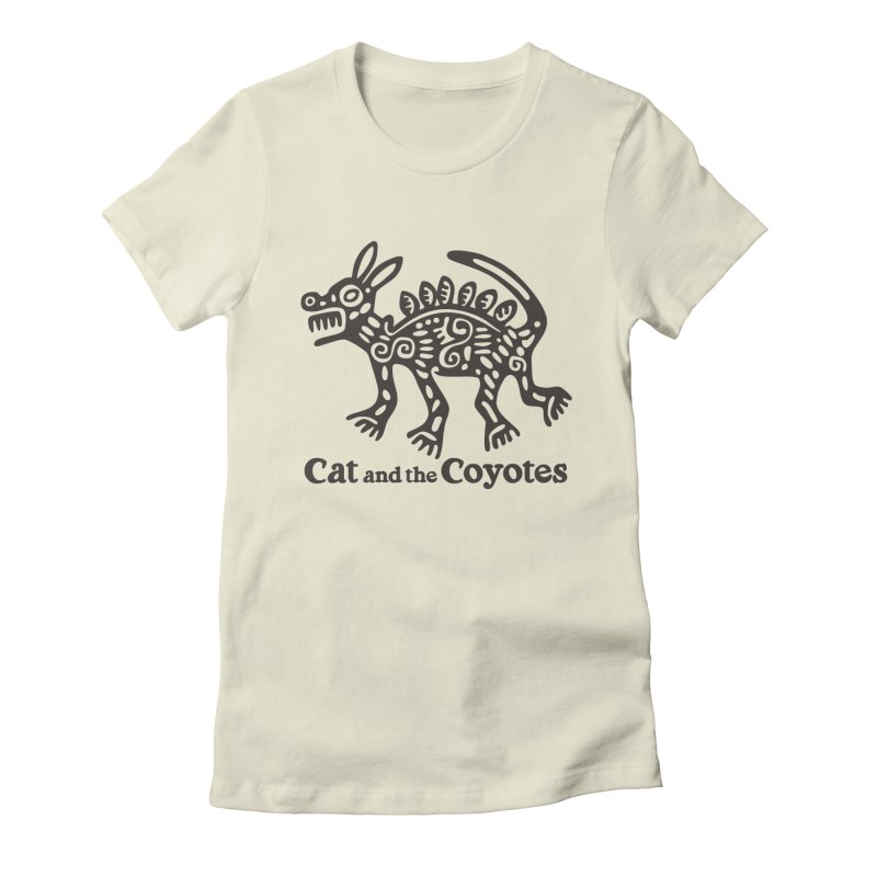 Cat and the Coyotes Coyote Azteca Tee Women's Fitted T-Shirt by Magic Inkwell
