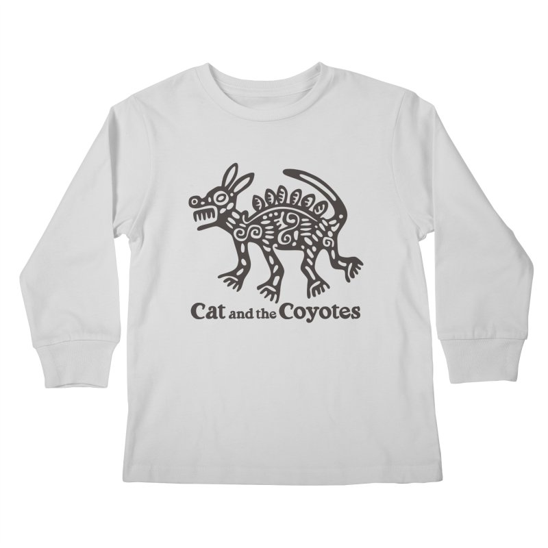 Cat and the Coyotes Coyote Azteca Tee Kids Longsleeve T-Shirt by Magic Inkwell