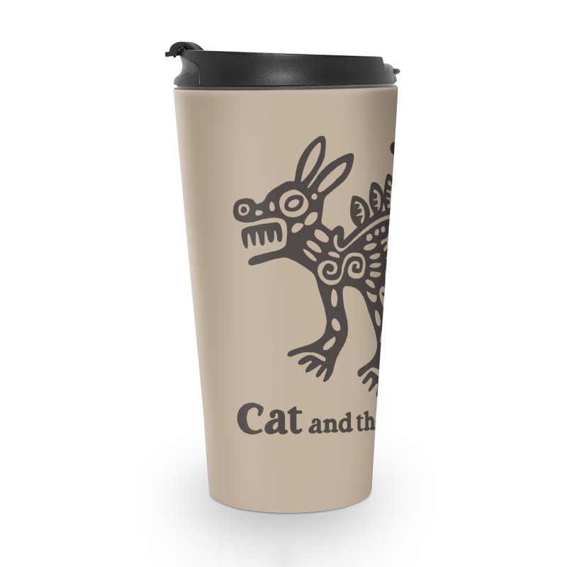 Cat and the Coyotes Coyote Azteca Tee Accessories Travel Mug by Magic Inkwell