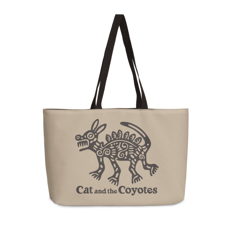 Cat and the Coyotes Coyote Azteca Tee Accessories Weekender Bag Bag by Magic Inkwell