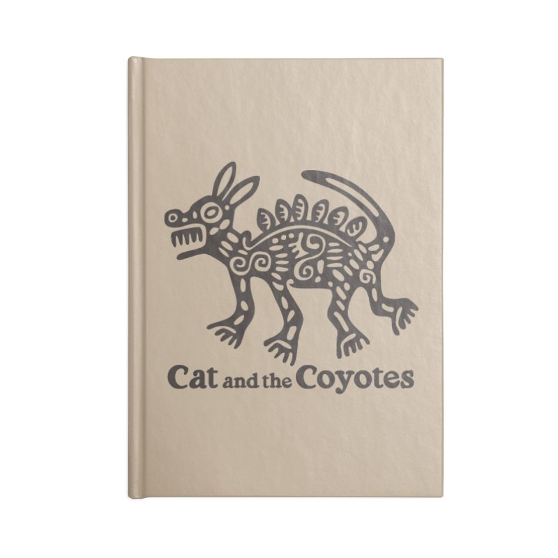 Cat and the Coyotes Coyote Azteca Tee Accessories Lined Journal Notebook by Magic Inkwell