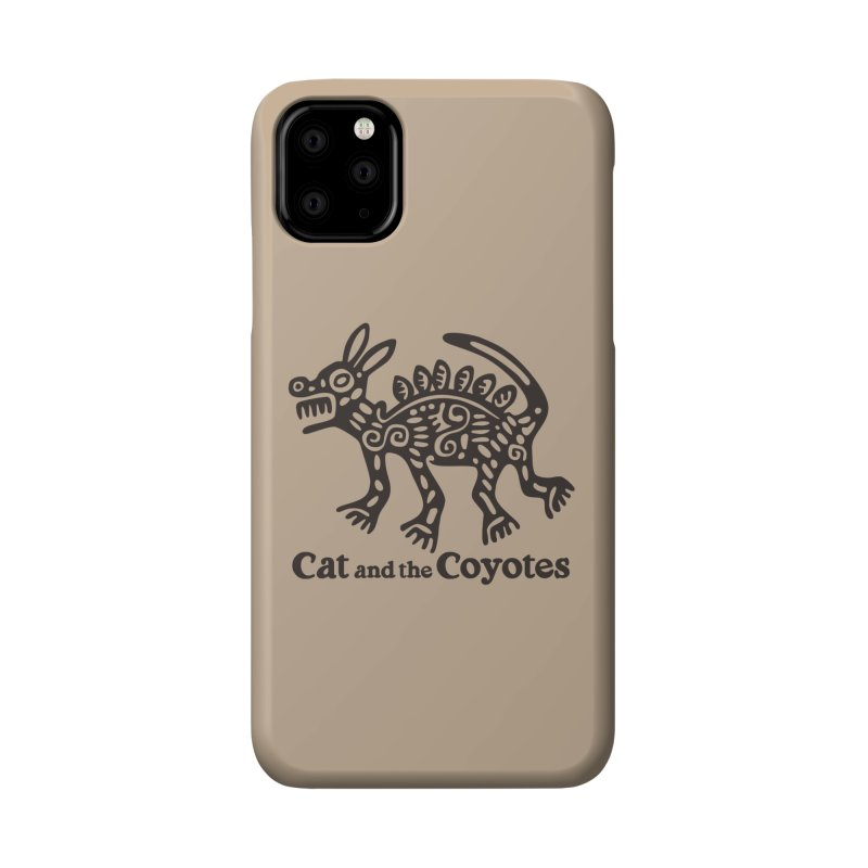 Cat and the Coyotes Coyote Azteca Tee Accessories Phone Case by Magic Inkwell