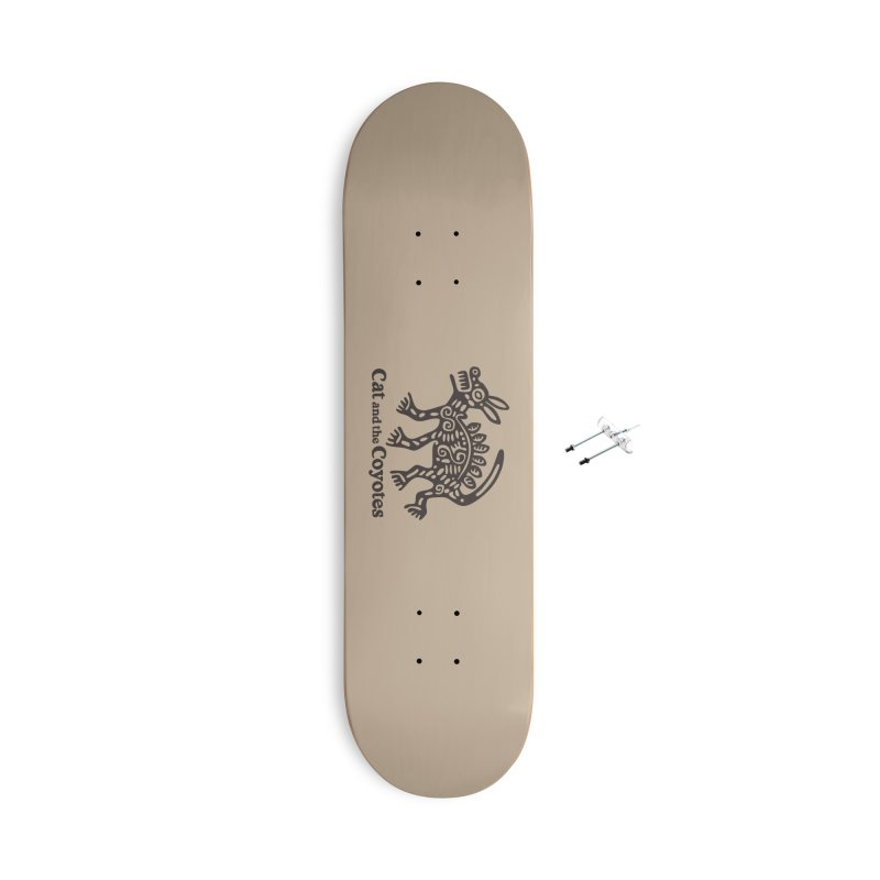 Cat and the Coyotes Coyote Azteca Tee Accessories Skateboard by Magic Inkwell