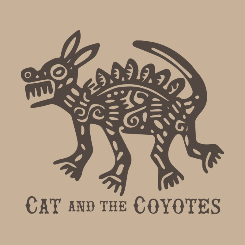 Cat and the Coyotes Coyote Azteca Tee by Magic Inkwell