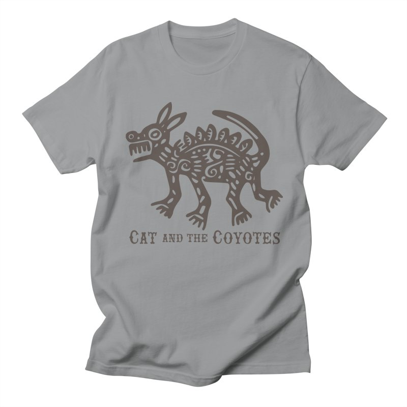 Cat and the Coyotes Coyote Azteca Tee Men's T-Shirt by Magic Inkwell