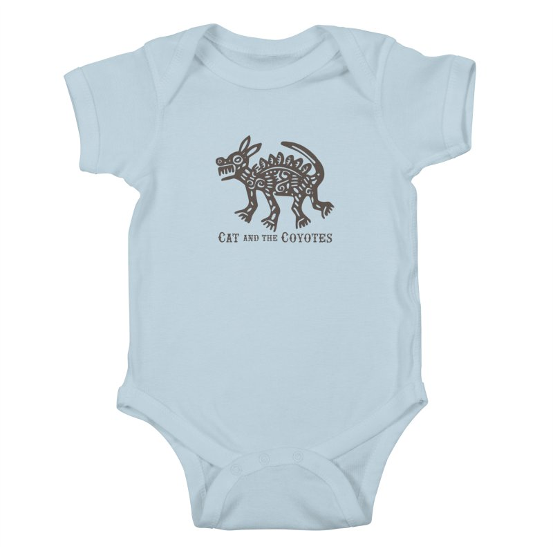 Cat and the Coyotes Coyote Azteca Tee Kids Baby Bodysuit by Magic Inkwell