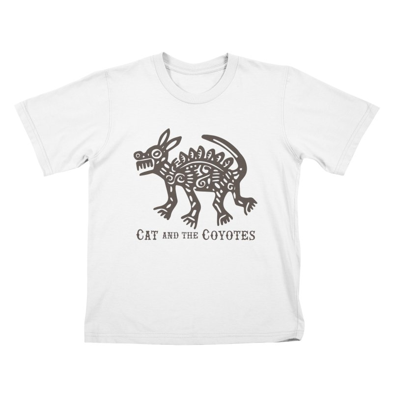 Cat and the Coyotes Coyote Azteca Tee Kids T-shirt by Magic Inkwell
