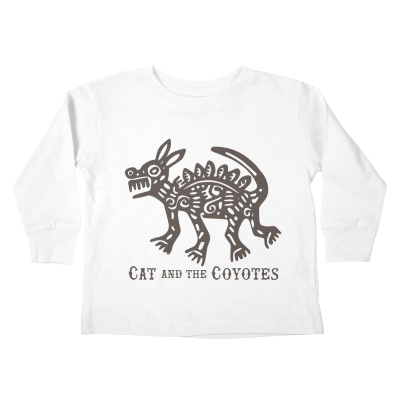 Cat and the Coyotes Coyote Azteca Tee Kids Toddler Longsleeve T-Shirt by Magic Inkwell