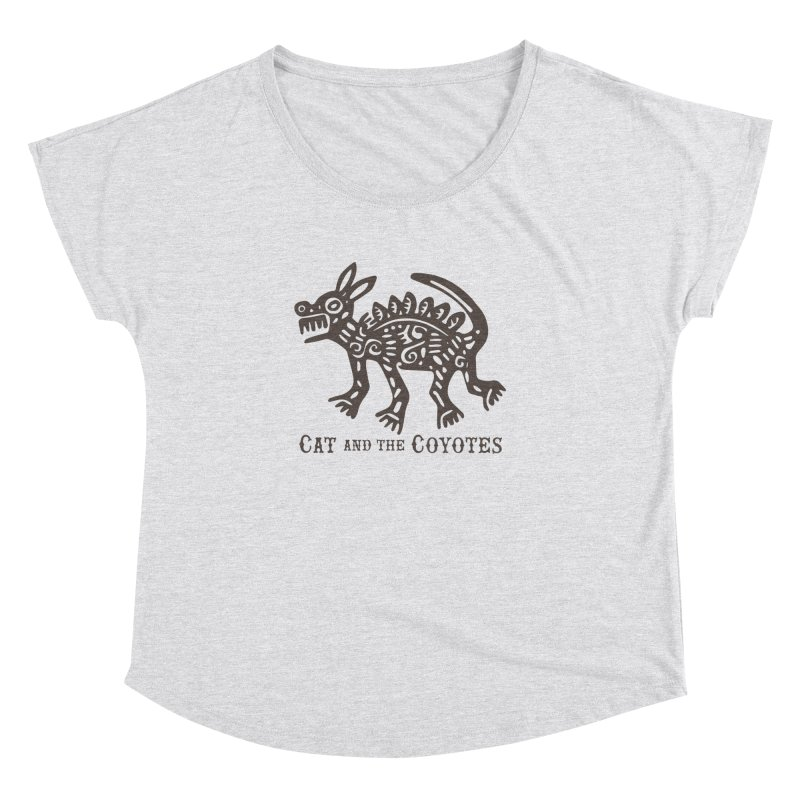 Cat and the Coyotes Coyote Azteca Tee Women's Dolman by Magic Inkwell