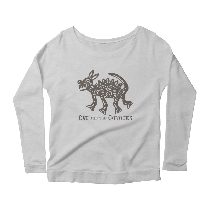 Cat and the Coyotes Coyote Azteca Tee Women's Longsleeve Scoopneck  by Magic Inkwell