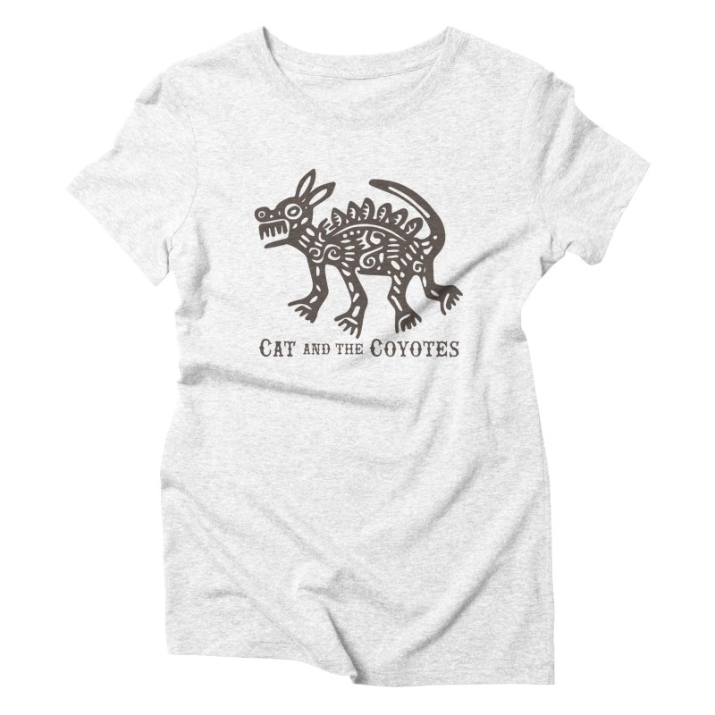 Cat and the Coyotes Coyote Azteca Tee Women's Triblend T-shirt by Magic Inkwell