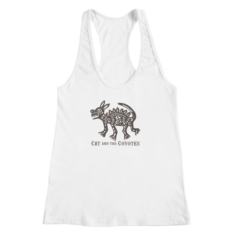 Cat and the Coyotes Coyote Azteca Tee Women's Racerback Tank by Magic Inkwell