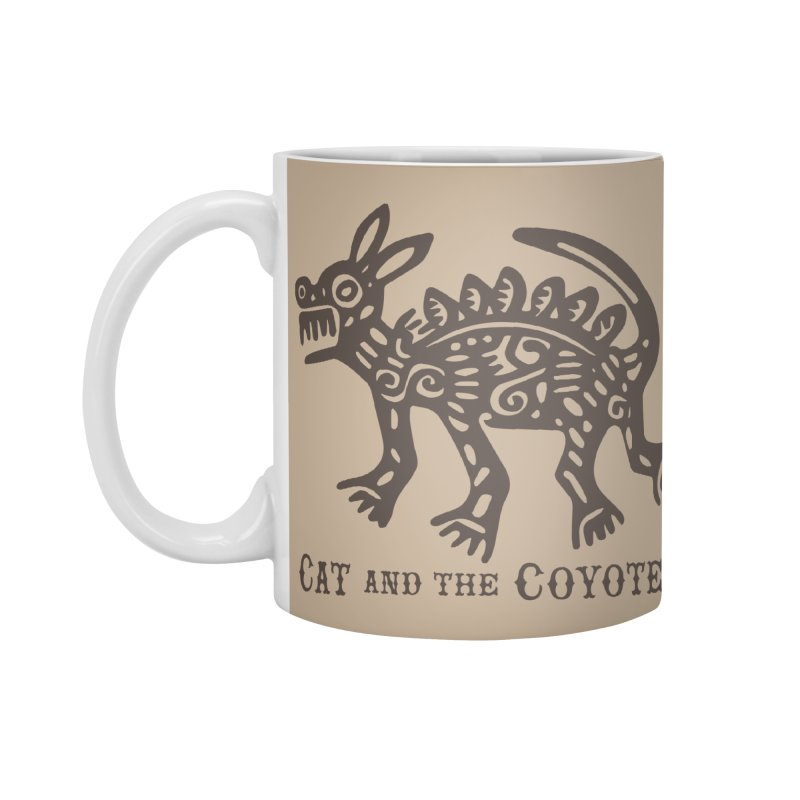 Cat and the Coyotes Coyote Azteca Tee Accessories Mug by Magic Inkwell