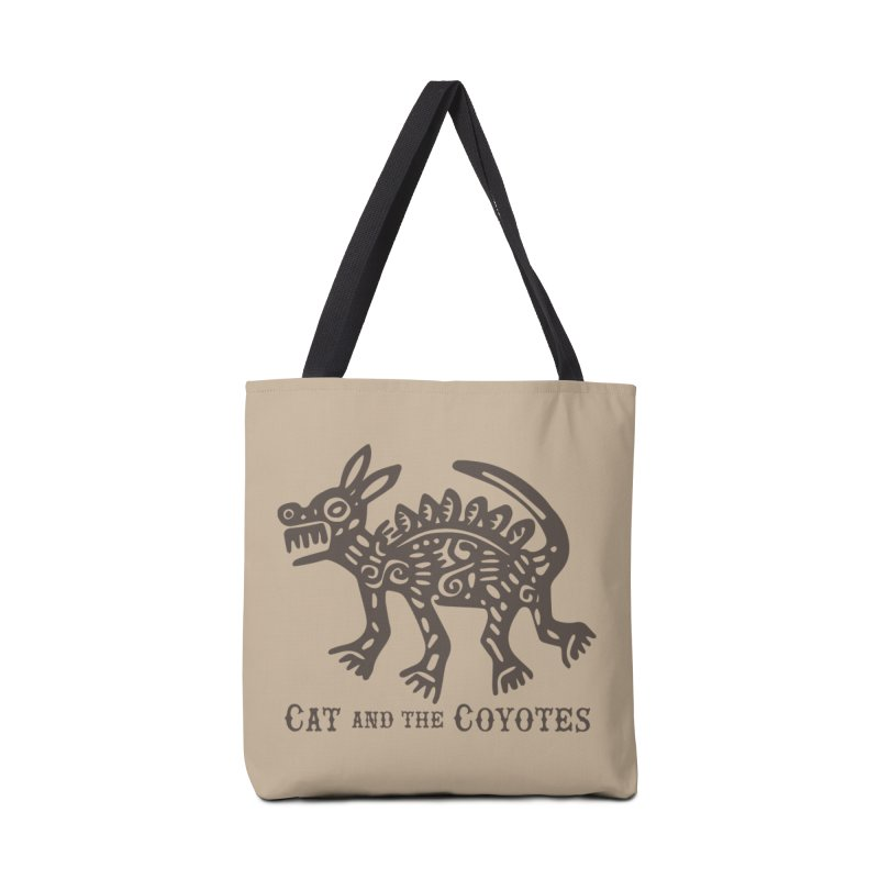 Cat and the Coyotes Coyote Azteca Tee Accessories Bag by Magic Inkwell
