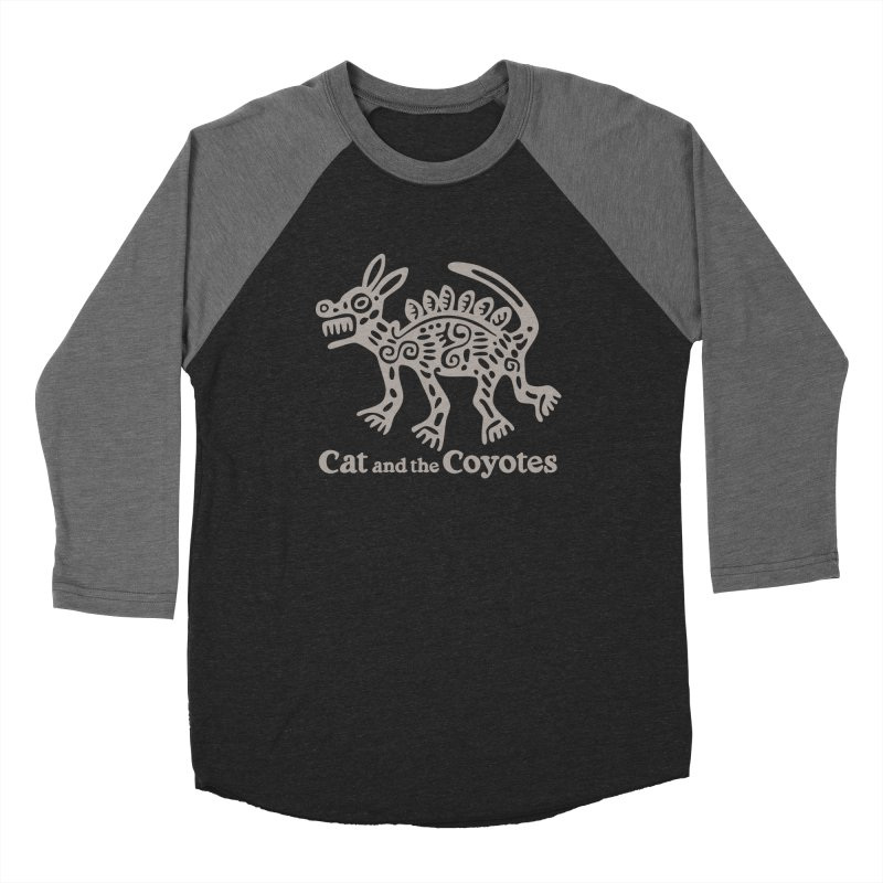 Cat and the Coyotes Coyote Azteca 2nd Colorway Men's Baseball Triblend Longsleeve T-Shirt by Magic Inkwell