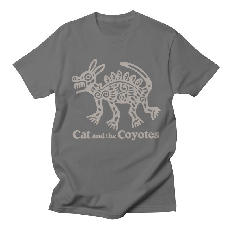Cat and the Coyotes Coyote Azteca 2nd Colorway Men's T-Shirt by Magic Inkwell