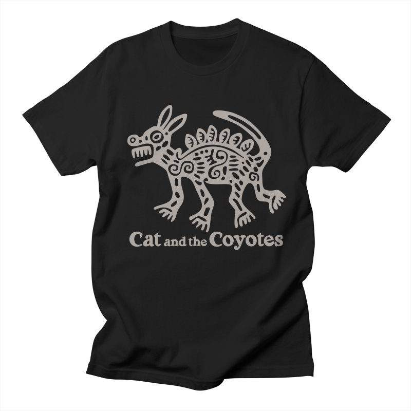 Cat and the Coyotes Coyote Azteca 2nd Colorway Men's Regular T-Shirt by Magic Inkwell