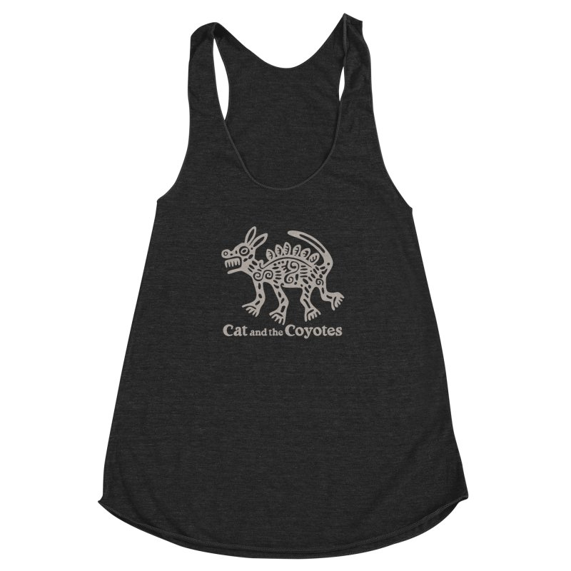 Cat and the Coyotes Coyote Azteca 2nd Colorway Women's Racerback Triblend Tank by Magic Inkwell